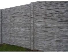 Betonový plot 11 Dekor jednostranný přírodní