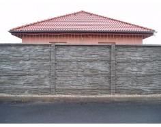 Betonový plot 11 Dekor Plus jednostranný přírodní