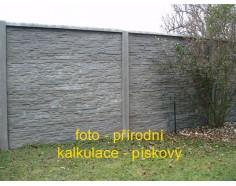 Betonový plot 17 Plus oboustranný pískový