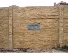 Betonový plot 17 Dekor jednostranný přírodní