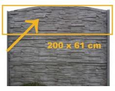 Betonová deska 11 velká pro jednostranný plot